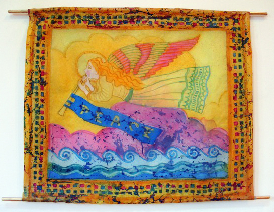 "10 ""Angel of Peace"" silk-hanging"