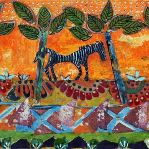Ancient Horse - collage by Sofiah Garrard