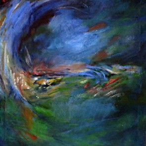 Blue and Green Abstract by Maia Spall