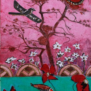 Dusk Falling - collage by Sofiah Garrard