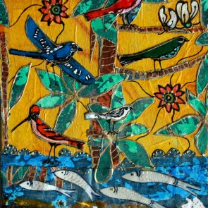 Tree Of Life - collage by Sofiah Garrard