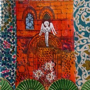 Angel at Barfrestoneel - collage by Sofiah Garrard