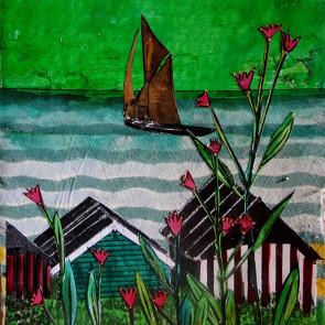 Beach Hutsel - collage by Sofiah Garrard