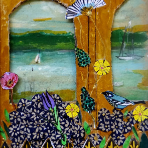 Window by the Lakeel - collage by Sofiah Garrard