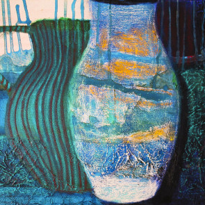 Stripey Jug and See-through Vase - by Gail de Cordova