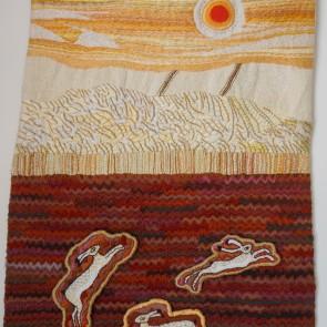 Harvest Hares - Wall hanging by Rohana Darlington