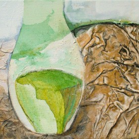 Spring Vessel painting by Gail de Cordova