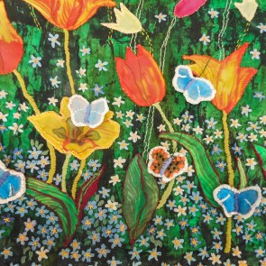 Tulips and Forget-me-nots - detail