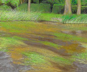 Pastel on paper, (29x20.5cm)