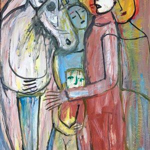 Oil on canvas (85x117cm), framed