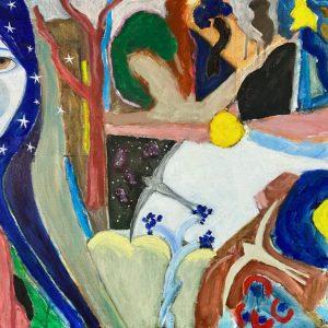 Oil on canvas, unframed, 70x50cm