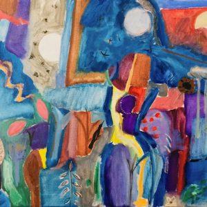 Oil on canvas, unframed, 178x127cm